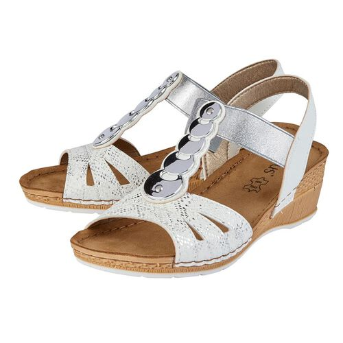Lotus Padova Wedge Sandals (Size 7) - White