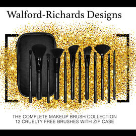 Walford-Richards Designs: 12 Piece Make-Up Brush Set (Incl.Brush Case)