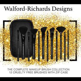 Walford-Richards Designs: 12 Piece Make-Up Brush Set (Incl.Brush Case)