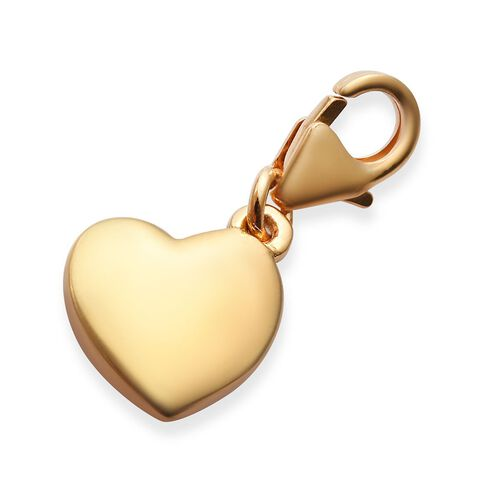 14K Gold Overlay Sterling Silver Son Heart Charm
