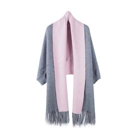 Kris Ana Wrap with Tassels (Size One, 8-18)- Grey and Pink