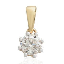 OCTILLION CUT ILIANA 18K Y Gold  IGI Certified Diamond (SI- GH) Solitaire Pendant (0.50 Ct) 0.500  C