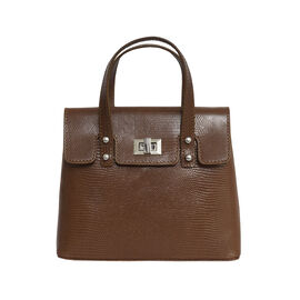 Assots London BENTLEY Lizard Designer Genuine Leather Grab Bag with Detachable and Adjustable Should