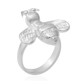 ELANZA Simulated Diamond Bumble Bee Ring in Sterling Silver 8.59 Grams