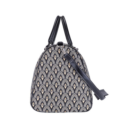 Signare Tapestry - 2 Piece Set - Luxor Art Deco Travel Bag (56X29X33cm) and Sling Bag (56X29X33cm) in Black