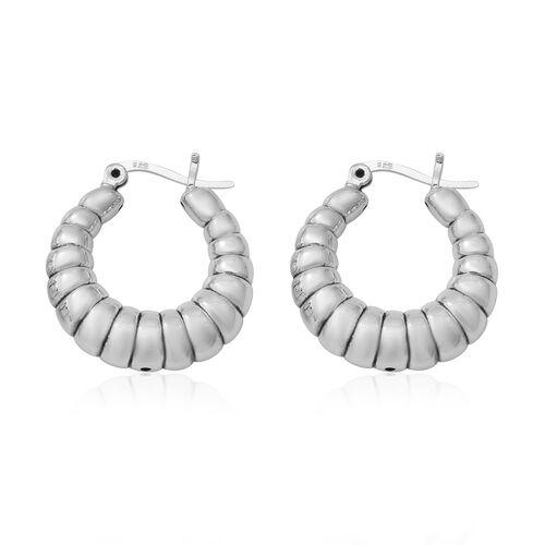 Thai Sterling Silver Creole Earrings