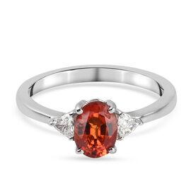 RHAPSODY 950 Platinum AAAA Songea Sapphire and Diamond (VS/ E-F) Ring 1.10 Ct.