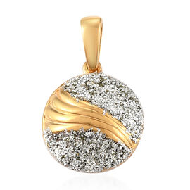 14K Yellow Gold Overlay Sterling Silver Fancy Pendant