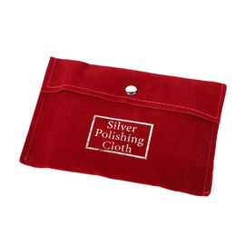 Set of 30 - Anti Tarnish Silver Polishing Cloth (Size 10.8X6.8 Cm) in Red Pouch