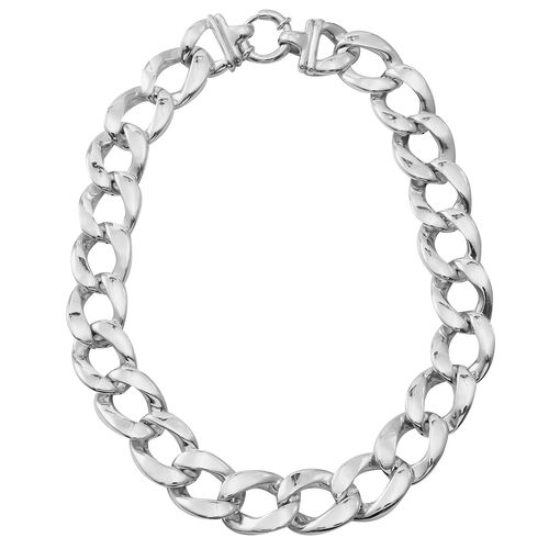 Sterling Silver Curb Necklace (Size 20), Silver wt. 77.88 Gms.
