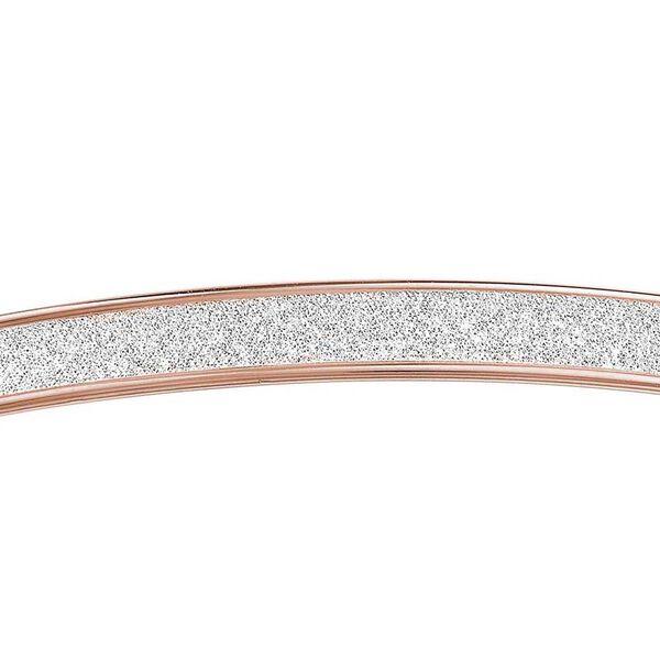 9K Rose Gold Stardust Bangle (Size 7.5)
