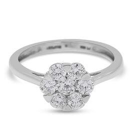 RHAPSODY 950 Platinum SGL Certified Diamond (VS/E-F) Floral Ring 1.00 Ct