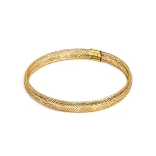 WEB EXCLUSIVE - Italian Made 9K Yellow Gold Stretchable Mesh Bracelet (Size 7.25)