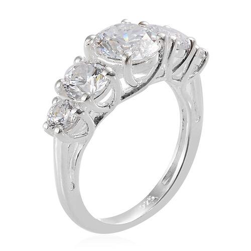 J Francis -Sterling Silver (Rnd) Ring Made With SWAROVSKI ZIRCONIA