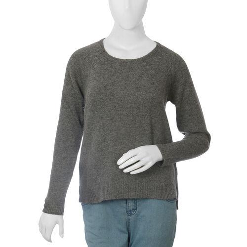 80% Wool Graphite Melange Colour Top (Size-16, 69.8x52.7cm)