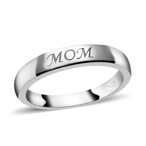 Set of 2 - Platinum Overlay Sterling Silver Ring, Silver wt 6.45 Gms