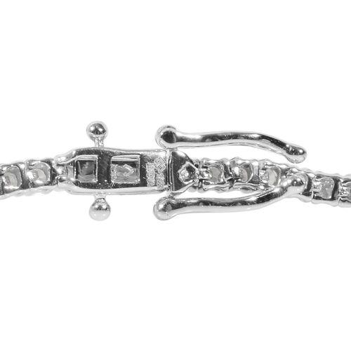 14K Yellow Gold Diamond (I1-I2/G-H) Line Bracelet (Size 7.25) 3.00 Ct, Gold Wt. 8.75 Gms