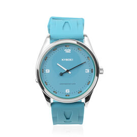KYBOE Japanese Movement 100M Water Resistant Tile Blue LED Watch in Stainless Steel with Teal Colour