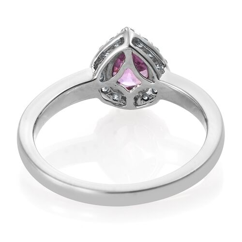 RHAPSODY 1 Carat AAAA Pink Sapphire and Diamond (VS/E-F) Halo Ring in 950 Platinum