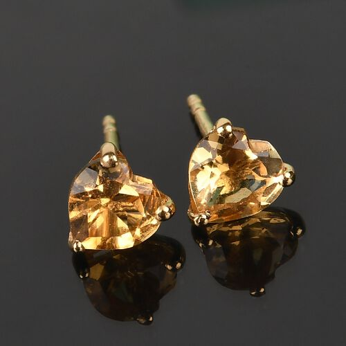 Citrine Earring in 14K Gold Overlay Sterling Silver 0.99 ct  0.986  Ct.