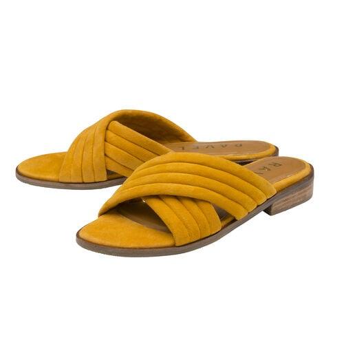 Ravel Paxton Suede Mule Sandals (Size 3) - Mustard