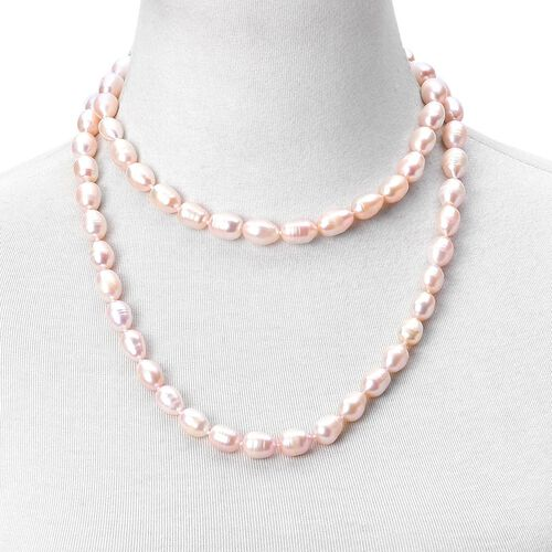 Exclusive Edition Top Lustre Premium Fresh Water Peach Pearl Necklace (Size 36)