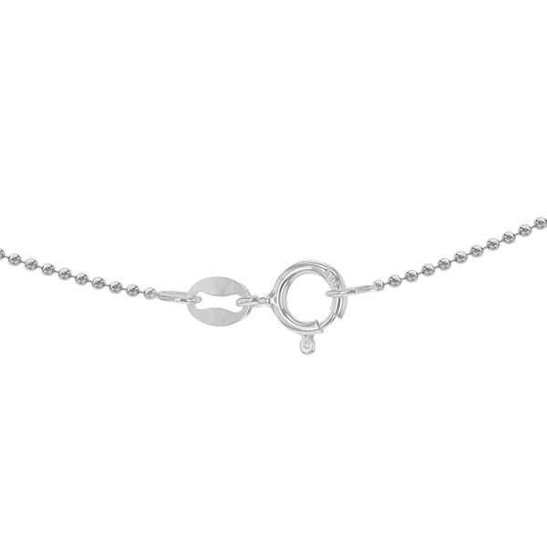 Sterling Silver Ball Bead Chain (Size 24) with Spring Ring Clasp, Silver wt 3.95 Gms