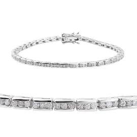 9K White Gold SGL CERTIFIED Diamond (Rnd) (I2-I3/G-H) Bracelet (Size 7.5), Gold wt 11.89 Gms.