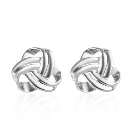 RHAPSODY 950 Platinum Knot Stud Earrings (with Screw Back), Platinum wt 3.22 Gms.