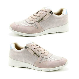 Heavenly Feet Chill Soft Lace-up and Zip Trainers   - Pink