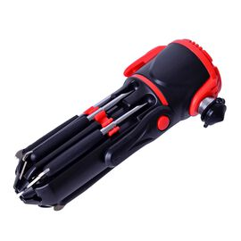 Red and Black Colour Multi Functional Hammer with LED Flashlight (Size 17X8X6 Cm)