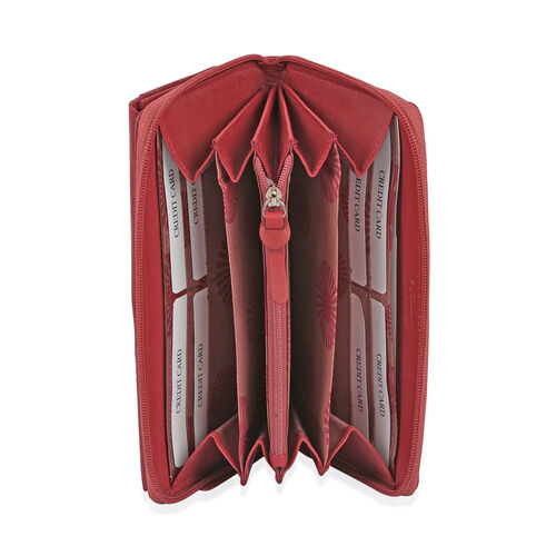 Super Soft 100% New Zealand Leather Burgundy Colour Clutch Wallet RFID Blocking  (Size 19X2.5X10 Cm Large Phone Can Fit in )