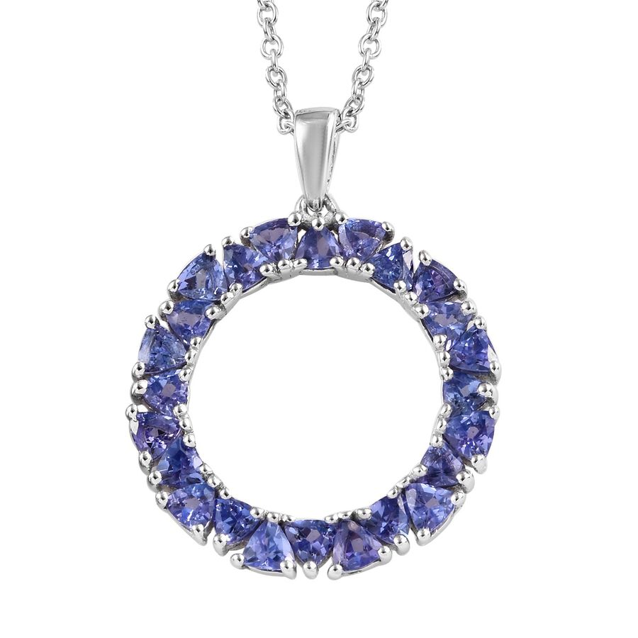 shop sterling handmade gemstone long necklace silver tanzanite ladies pendant necklaces