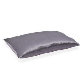 100% Mulberry Silk Hyaluronic and Argan Oil Infused Dark Grey Pillowcase Size 50x75cm