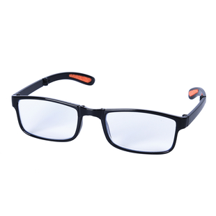 Foldable Blue Light Blocking Glasses with Testing Kit (+1.50 Focus) (Size:14.5x14x3Cm) - Black