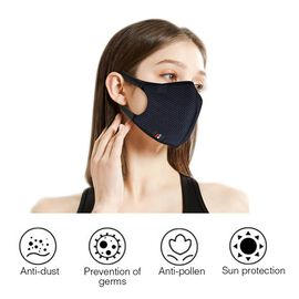 6 Layer Washable Anti Dust Face Covering - Black