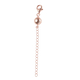 Magnetic Ball Clasp with 2 Inch Extender in Rose Gold Plated Sterling Silver