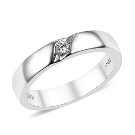 RHAPSODY 950 Platinum IGI Certified Diamond (Rnd) (VS/E-F) Ring 0.080 Ct, Platinum wt 6.71 Gms