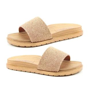 Heavenly Feet Dune Womens Rose Gold Mule Sandals