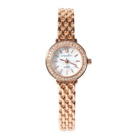 ETERNITY - Ladies Swarovski Studded Watch in Rose Gold Tone