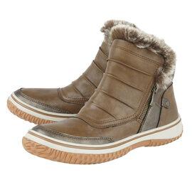 Lotus Tan Carmen Zip-Up Ankle Boots