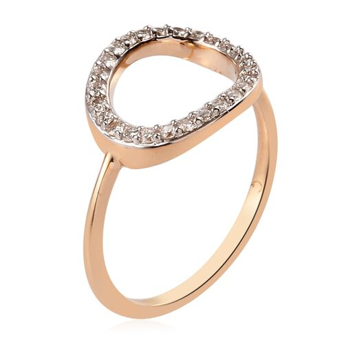 RACHEL GALLEY 9K Yellow Gold SGL Certified Diamond (I1/G-H) Ring