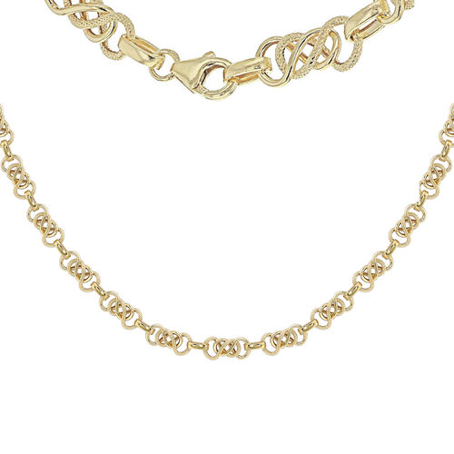 9K Yellow Gold Celtic Knot Chain (Size 20), Gold wt 9.70 Gms