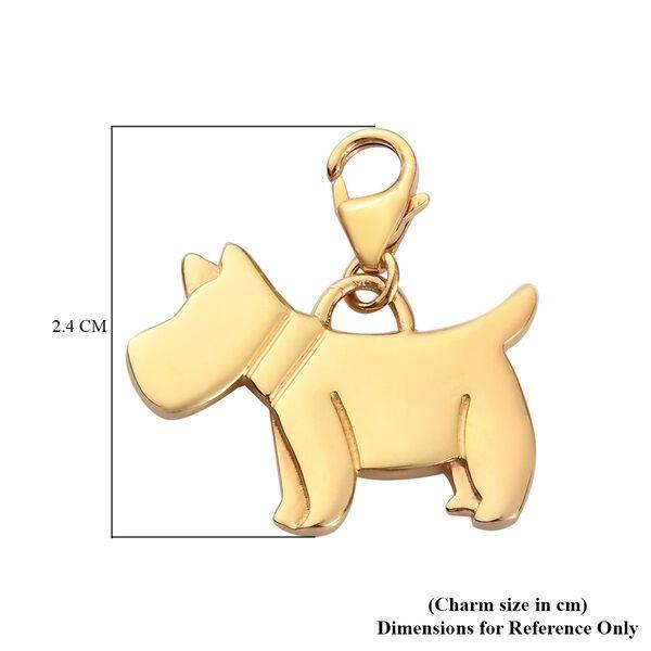14K Gold Overlay Sterling Silver Scottish Terrier Dog Charm