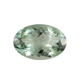 AAA Prasiolite Oval 27x18 Faceted 31.61 Cts