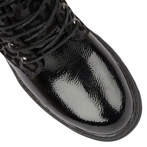 Lotus ELENA Animal Print Ankle Boots (Size 6) - Black