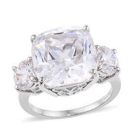 RHAPSODY 950 Platinum (Cush 12x12) Ring Made with SWAROVSKI ZIRCONIA, Platinum wt 7.60 Gms.
