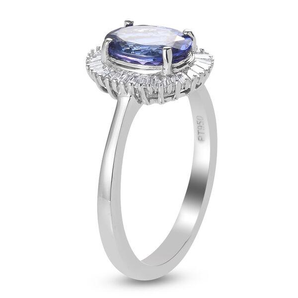 RHAPSODY 950 Platinum AAAA Tanzanite and Diamond(VS/E-F)  Ring 2.33 Ct.
