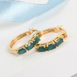 Grandidierite Hoop Earrings in 14K Gold Overlay Sterling Silver 1.250 Ct.