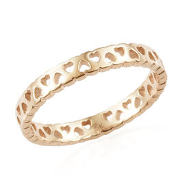 9K Rose Gold Band Ring